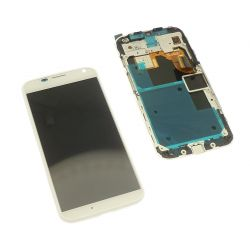 Touch screen and LCD screen assembled on white chassis Motorola Moto X XT1060 XT1058