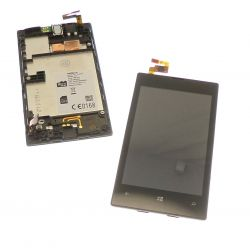 Touch screen and LCD screen on black chassis compatbile without logo Nokia Lumia 520
