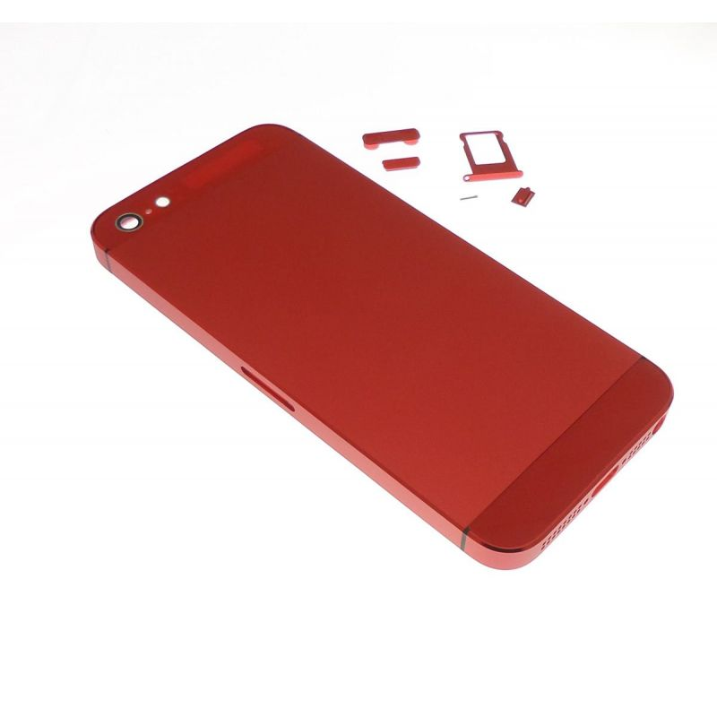 cache batterie arri re rouge apple iphone 5 pi ce. Black Bedroom Furniture Sets. Home Design Ideas