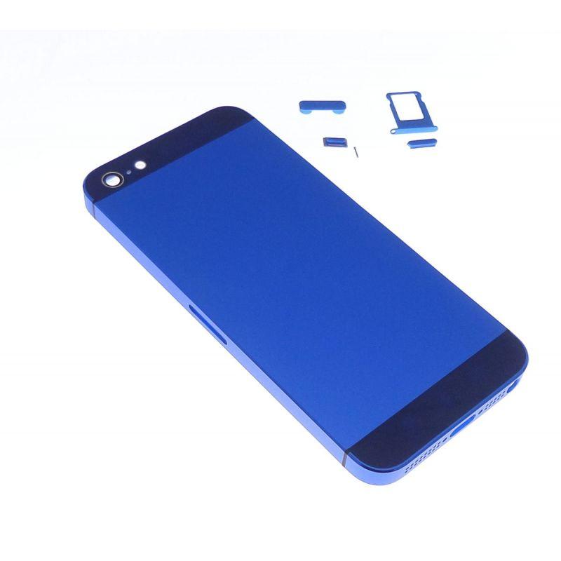 cache batterie arri re bleu fonc apple iphone 5. Black Bedroom Furniture Sets. Home Design Ideas