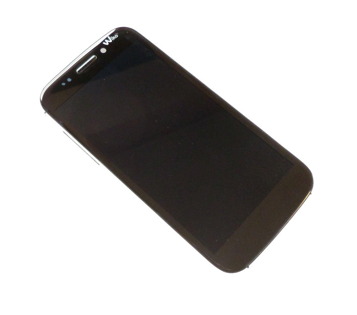 Ecran LCD et tactile assemblés sur châssis noir pour Wiko Stairway