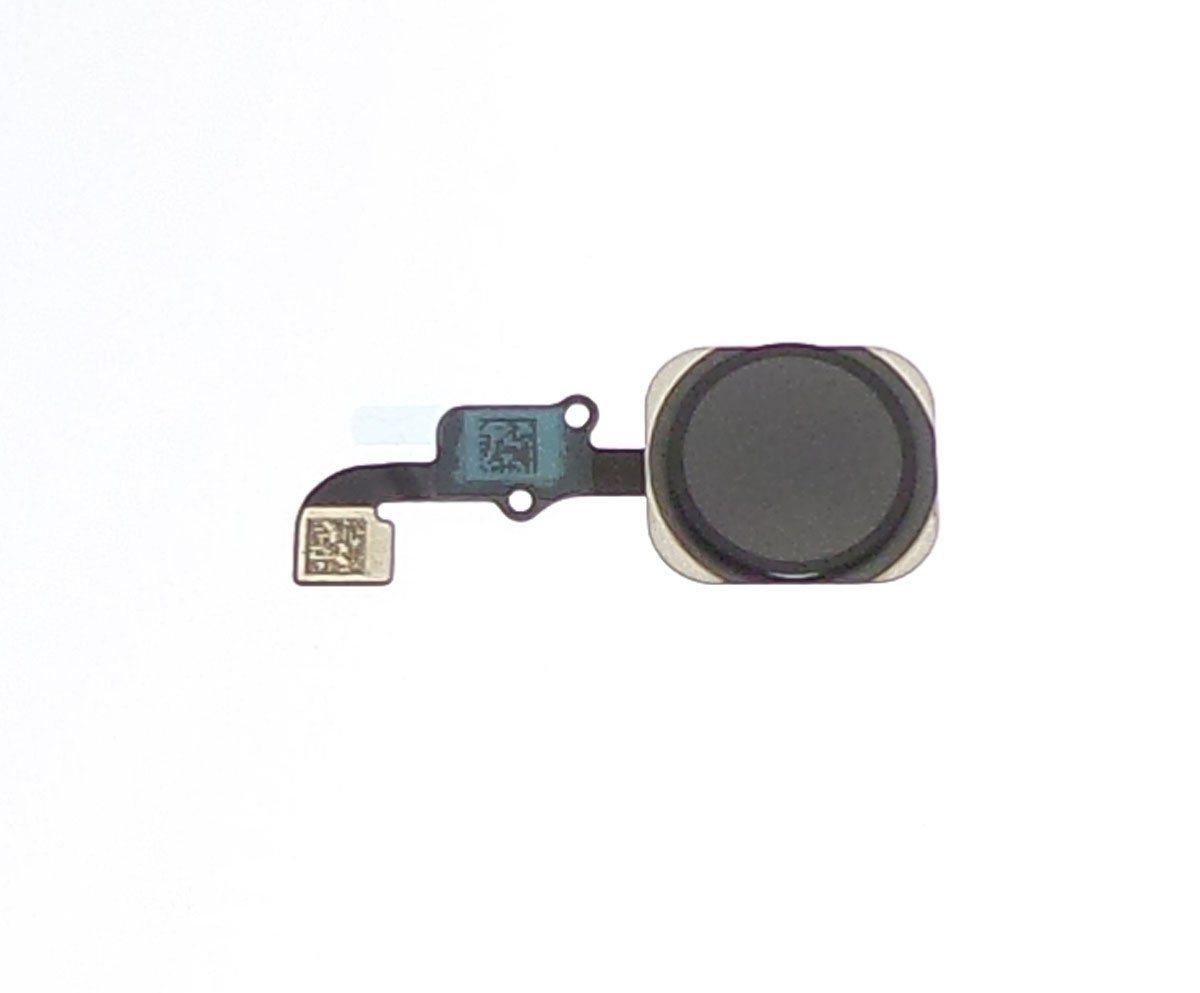 Bouton home noir avec flexible pour Apple iPhone 6