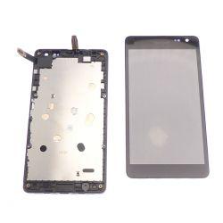 Ecran vitre tactile et LCD assemblés noir pour Nokia Lumia 535