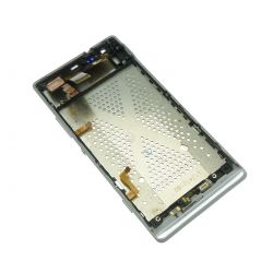 Lcd screen and touch glass assembled on chassis white Sony Xperia M35h C5303 SP