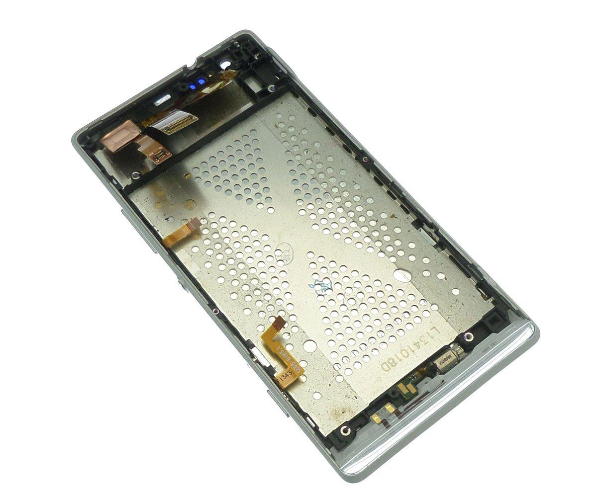 Ecran Lcd et vitre tactile assemblés sur châssis blanc Sony Xperia SP M35h C5303