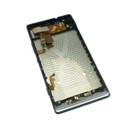 Lcd screen and touch glass assembled on chassis black Sony Xperia M35h C5303 SP