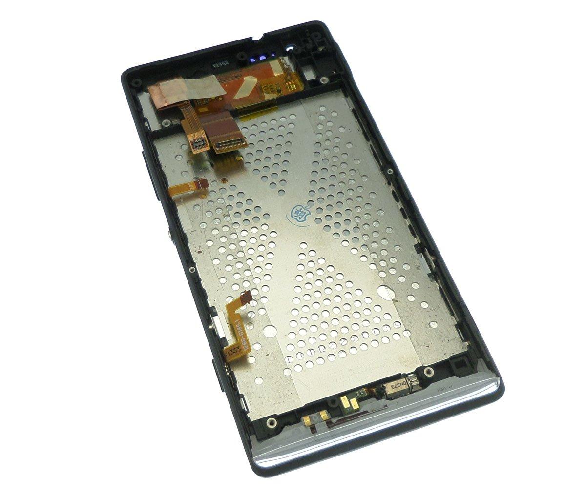 Ecran Lcd et vitre tactile assemblés sur châssis noir Sony Xperia SP M35h C5303