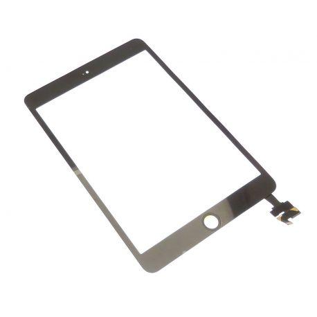 Ecran vitre tactile noir avec composant soudé pour Apple ipad mini 3