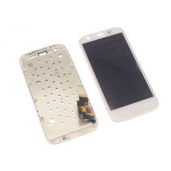 Ecran vitre tactile et LCD assemblés sur chassis blancs pour Motorola Moto G Xt1032