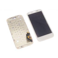 Touch screen and LCD screen assembled on white chassis for Motorola Moto G Xt1032