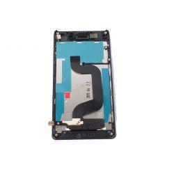 Ecran vitre tactile et LCD assemblés sur chassis noir avec logo pour Sony Xperia E3 D2203 D2206