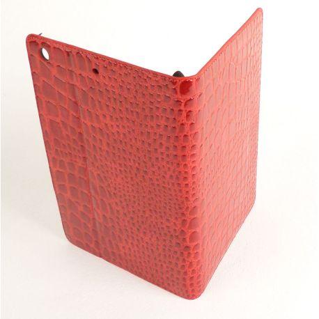 Etui protection croco rouge Apple Ipad mini