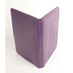 Etui protection simili cuir violet tablette Samsung 10 pouces