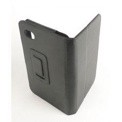 Etui simili cuir noir tablette Samsung Galaxy tab P1000