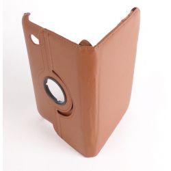 Etui rotatif simili cuir marron Samsung Galaxy Tab 7.0