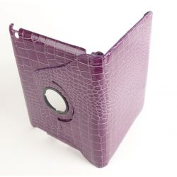Etui protection croco rotaif  violet tablette Apple iPad