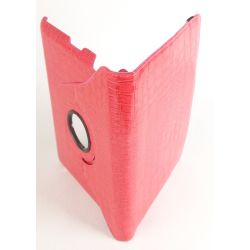 Etui protection croco rotatif rose tablette Apple iPad