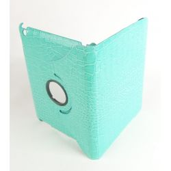 Etui protection croco rotatif turquoise tablette Apple iPad
