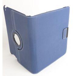 Etui rotatif tissu bleu tablette iPad Apple