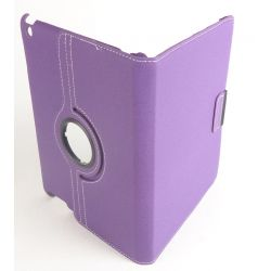 Etui rotatif tissu violet tablette Ipad Apple