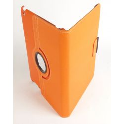 Etui rotatif tissu orange tablette iPad Apple