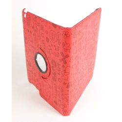 Etui protection rotatif Fun rouge Ipad avec ecran retina Apple