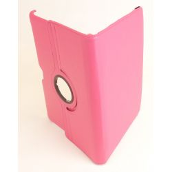 Etui rotatif simili cuir rose tablette Galaxy tab 10.1 P7500/P7510
