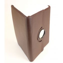 Leather case for imitation leather brown tablet Galaxy tab 10.1 P7500 / P7510