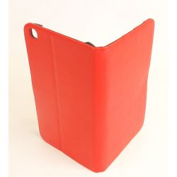 Etui protection simili cuir rouge Galaxy tab 3 8.0 T310/T311