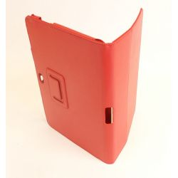 Etui simili cuir rouge Samsung Galaxy Note 10.1