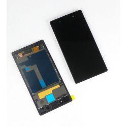 Ecran vitre tactile et LCD assemblés sur chassis noir sans logo pour Sony Xperia Z1 L39h C6903