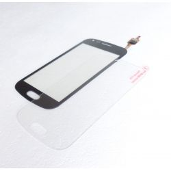 Lot vitre tactile compatible noire + vitre de protection verre trempé pour Samsung Galaxy trend S7560 et S7562