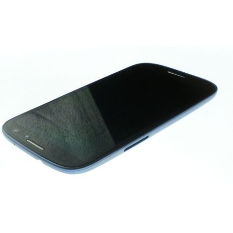 Ecran Lcd & tactile avec chassis Samsung Galaxy S3 GT-I9300 bleu