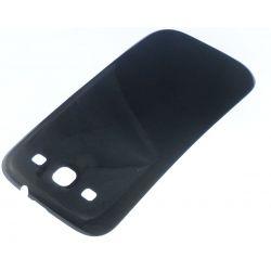 Cache arrière compatible cache batterie noir pour Samsung Galaxy S3 I9300 I9305