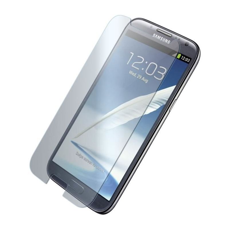 Vitre de protection en verre tremp de tr s haut qualit samsung galaxy note 2 n7100 n7105 - Vitre en verre trempe ...