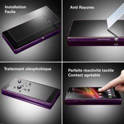 Vitre de protection en verre trempé de très haut qualité pour Sony Xperia Z L36h