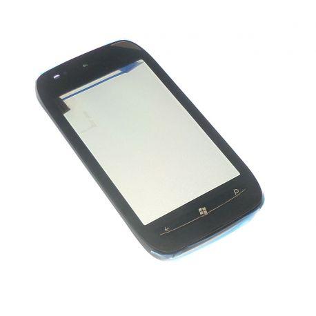 Vitre tactile Nokia Lumia 710 noir avec châssis