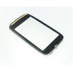Vitre ecran tactile Nokia Lumia 610 blanc + contour