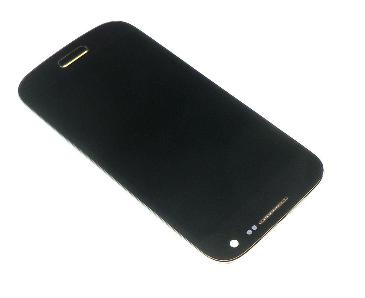 Ecran Lcd et vitre tactile avec châssis Samsung Galaxy S4 mini 4G I9195 bleu