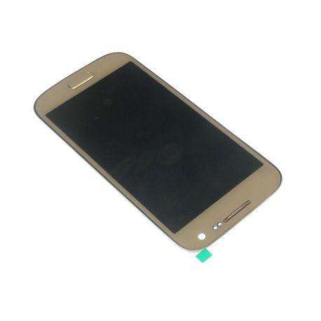 Ecran Lcd et vitre tactile assembles sur châssis Samsung Galaxy S4 mini 4G I9195 blanc