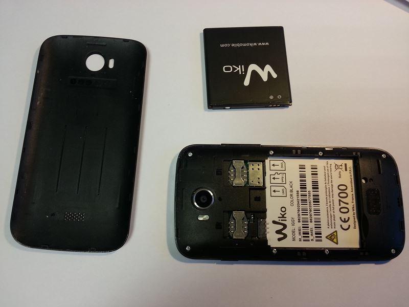 Déposer batterie wiko iggy