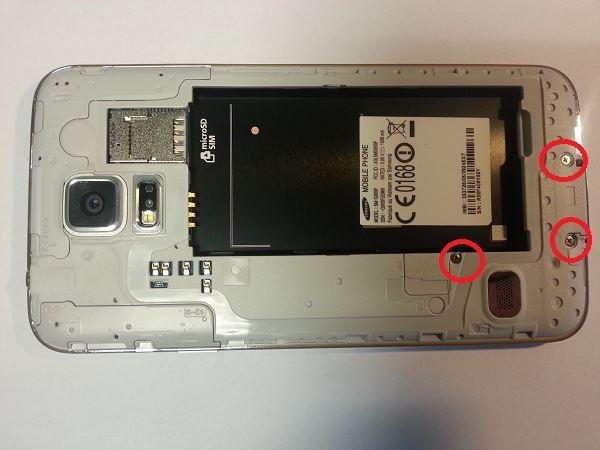 Guide de démontage et réparation du Samsung Galaxy S5 SM-G900F étape 2