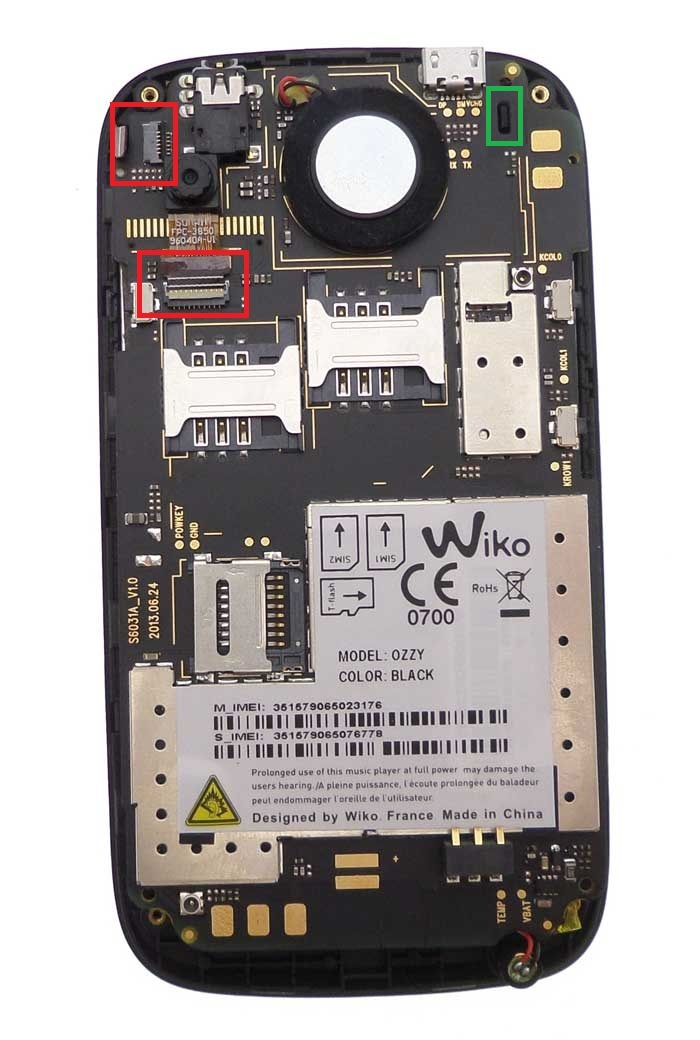 reparation wiko ozzy carte mere